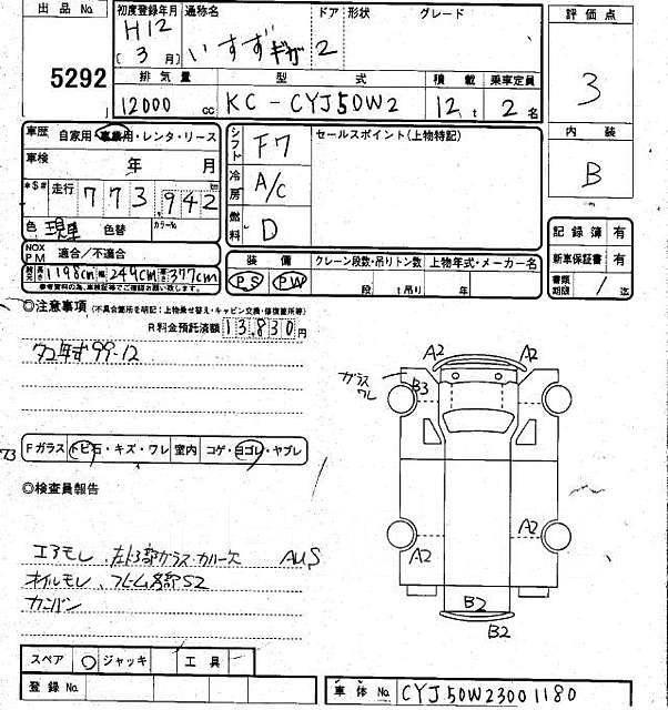 Рефрижератор Исузу Гига 1999 г , на запчасти