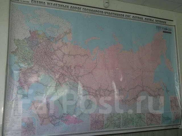 Продам карту железных дорог