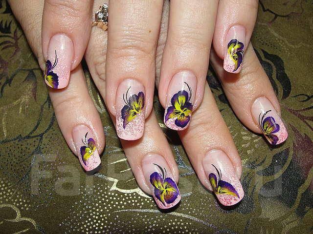 Рисунки на ногтях с овальной формой