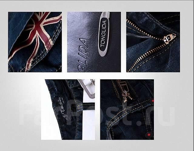 джинсы с британским флагом
