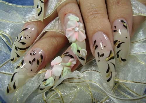 Свадебное наращивание ногтей на руках