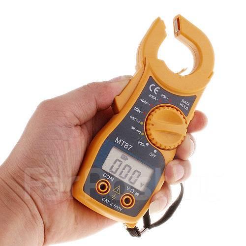 Токовые клещи-мультиметр. Позволит измерить силу тока, напряжение, сопротивление и т.д. Купить с бесплатной доставкой. Цена 695 рублей