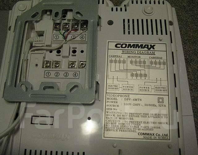 Commax DPV-4MTN + наружная