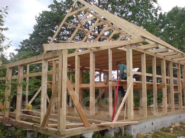 как построить дачный дом каркасный из бруса