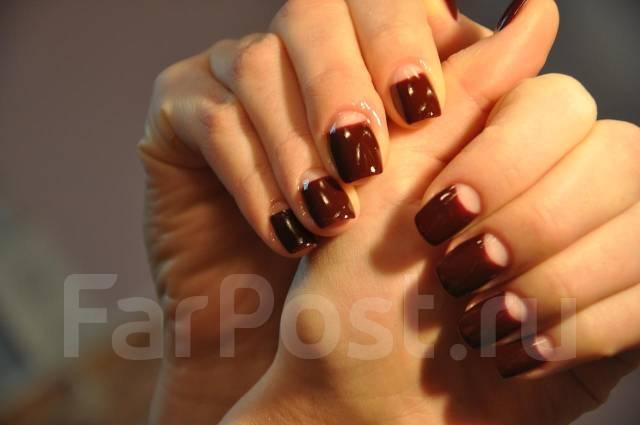 Овальные ногти полулунный маникюр