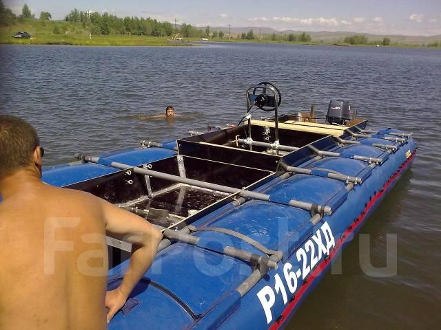 надувной катамаран с подвесным мотором