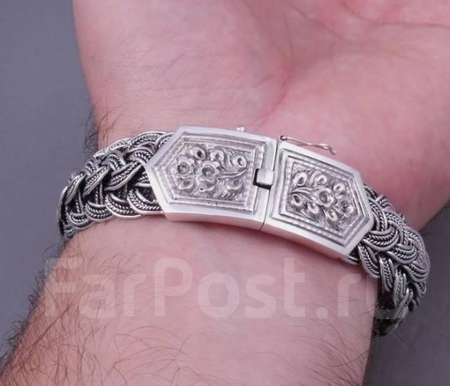 серебряный браслет мужской цена 925