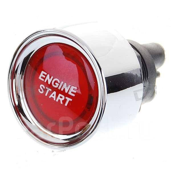 Red Light Push Start Ignition Switch for Racing Sport (DC 12V) - Кнопка запуска двигателя.