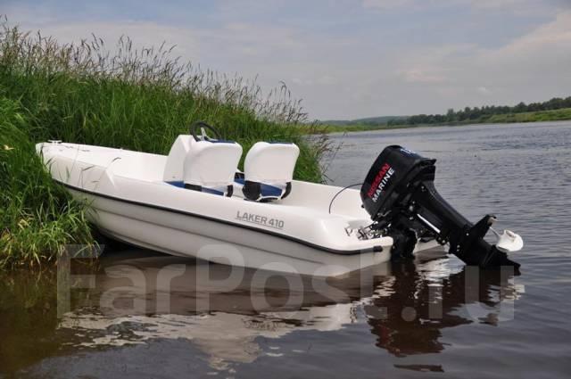 Отдых на стеклопластиковой лодке Laker 410