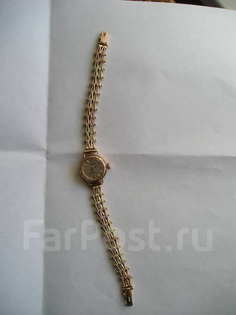 женские золотые часы чайка фото