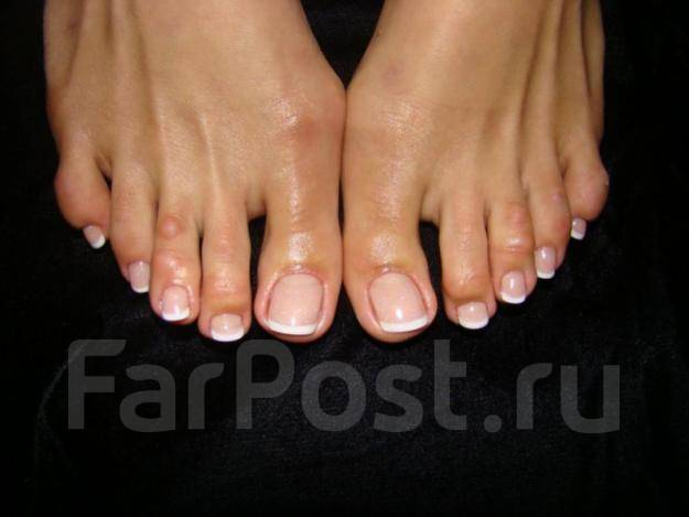 Фото френча на ногтях на ногах