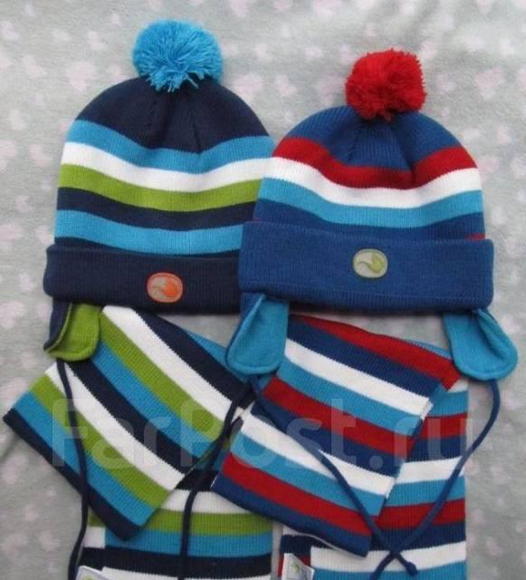 Комплект зимняя шапочка шарфик gagou