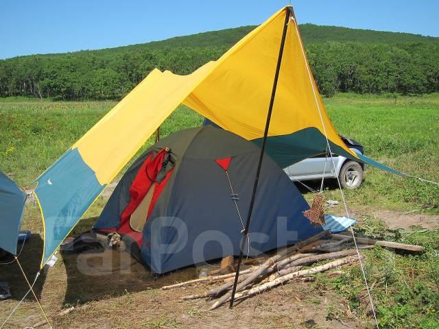 Тент туристический на стойках от солнца и дождя Rockland - Палатки ...