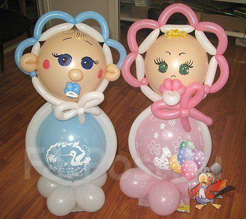 Фигуры для новорожденных из воздушных шаров своими руками
