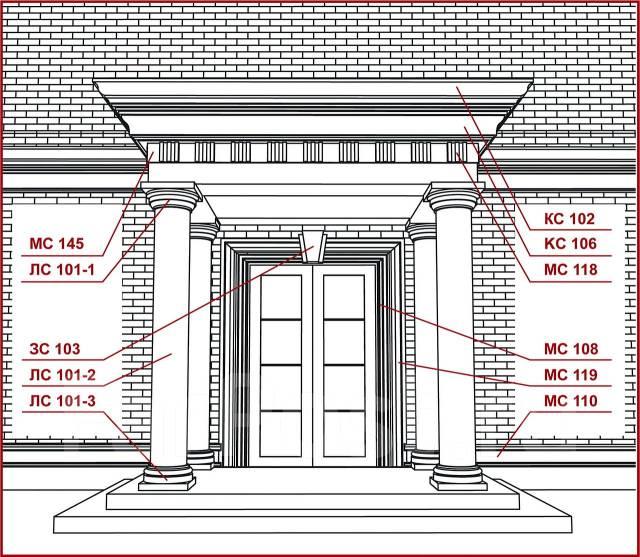 Элементы декора фасада здания