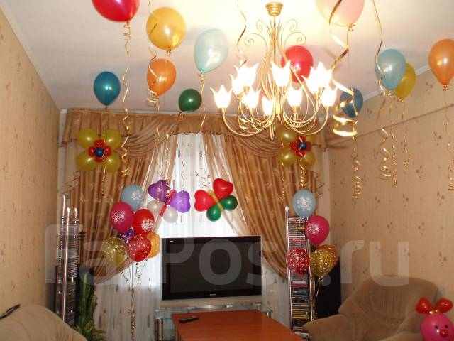 Как оформить комнату шарами своими руками