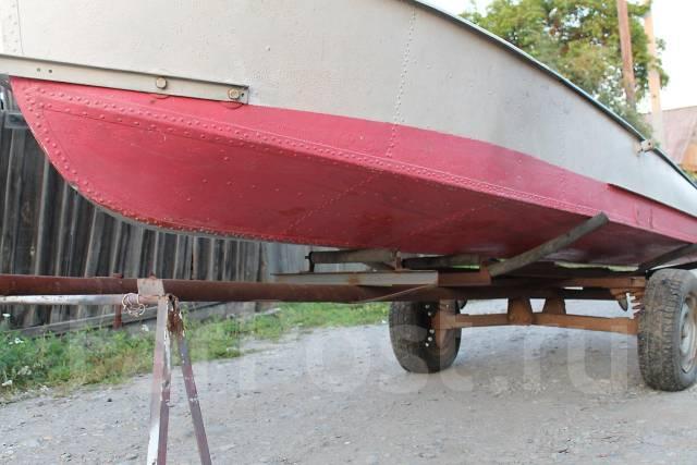 Как сделать прицеп для лодки казанки своими руками