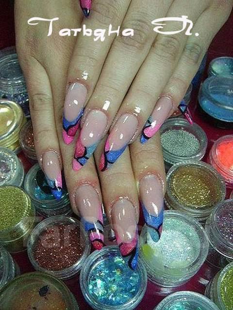 Нарощенные ногти дизайн фото лето