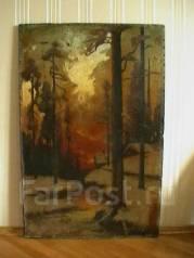 Картина, холст, масло, возможно 19век, Западная Европа, пейзаж. Оригинал