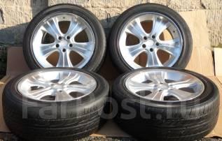 Комплект летних колес Dunlop 235/50R18 на литье 7,5JJ +35. 7.5x18 5x114.30 ET35 ЦО 72,0мм.
