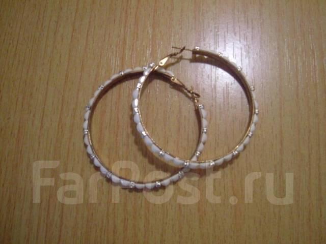серьги кольца бижутерия