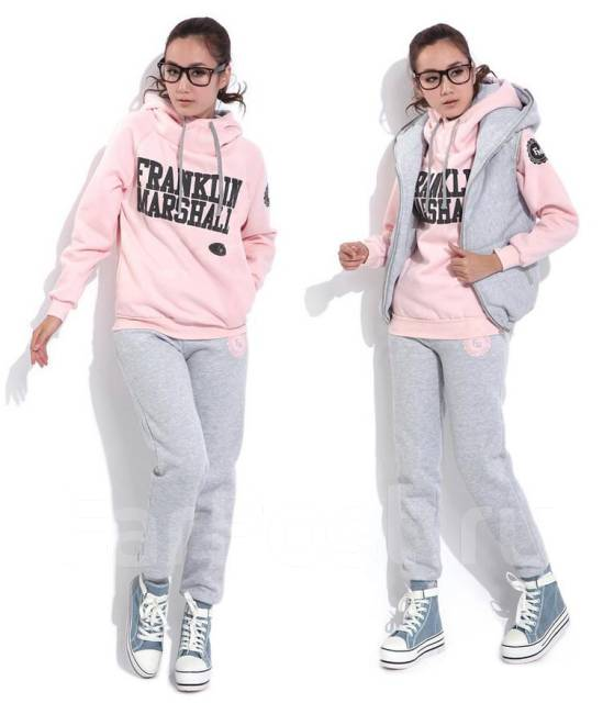 Утепленный костюм тройка franklin marshall