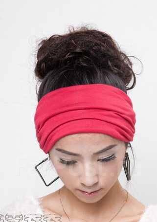 Широкая повязка на голову из ткани