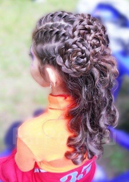 прически с плетением и локонами на длинные волосы фото