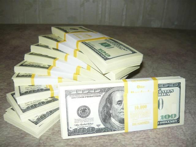 Лучший подарок! Пачка денег - Номинал - 50, 100, 1000000 Долларов ...