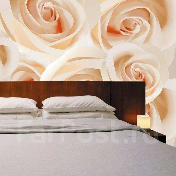 Фотообои розы в интерьере