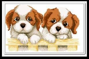Вышивка крестиком собачки отличный