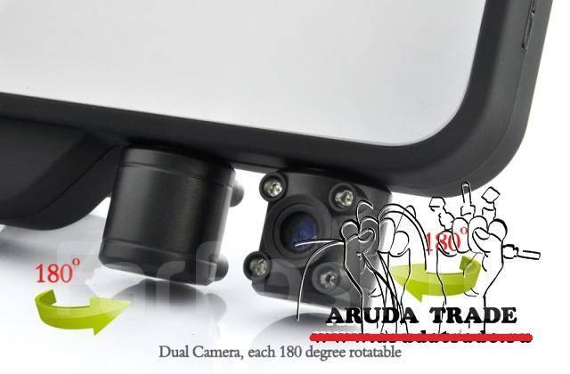 Видеорегистратор зеркало заднего вида с двумя камерами