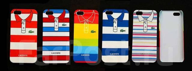 Чехол пластиковый с индивидуальным дизайном «Логотип Lacoste» для iPhone