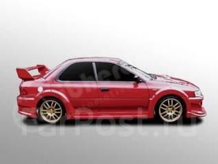 Порог пластиковый. Subaru Impreza WRX STI, GC8
