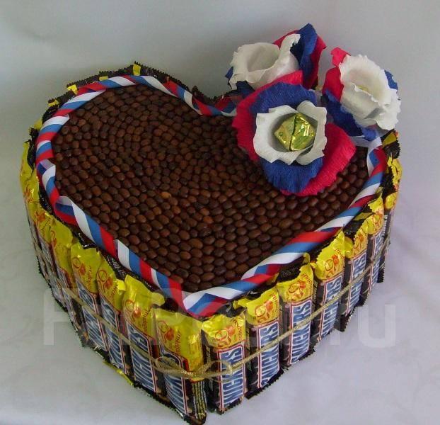Торт из батончиков пошаговое