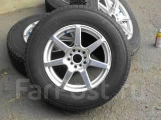 RAYS(Japan). Комплект зимних колес, Dunlop Grandtrek SJ6 215/70R16. 7.0x16 5x100.00, 5x114.30 ET52 ЦО 73,0мм.