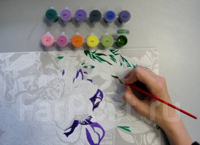 Картина раскраска своими руками