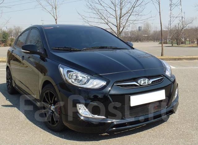 Обвес кузова аэродинамический. Hyundai Accent Hyundai Solaris