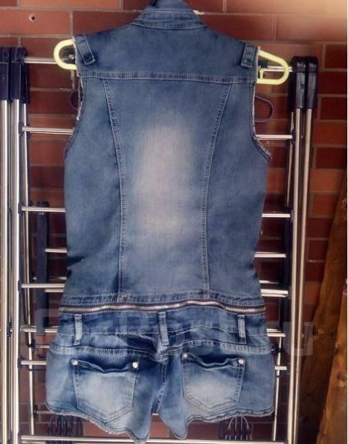 Своими руками джинсовый комбинезон фото