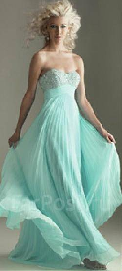 Картинки платье в пол голубого цвета