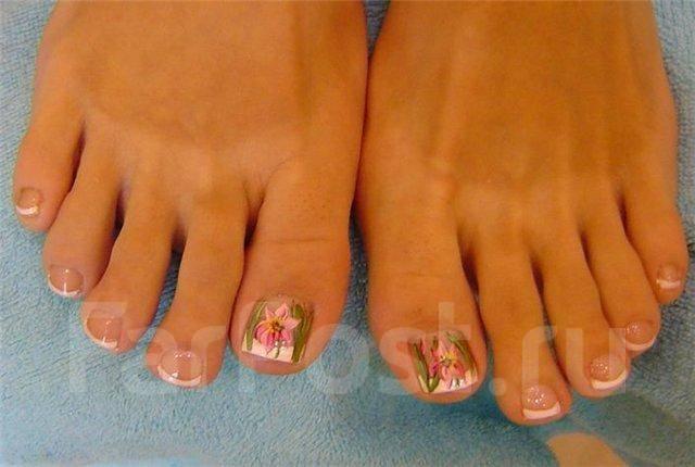 Красивые ногти на ногах своими руками фото