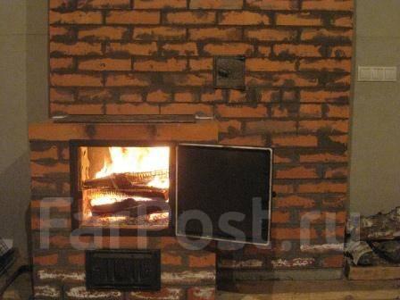 Печи-камины с теплообменником на две комнаты печь-камин с теплообменником из кирпича