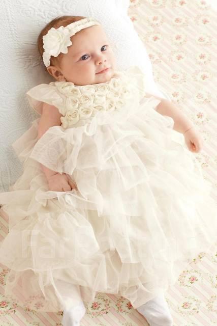 Красивое платье для новорожденной девочки