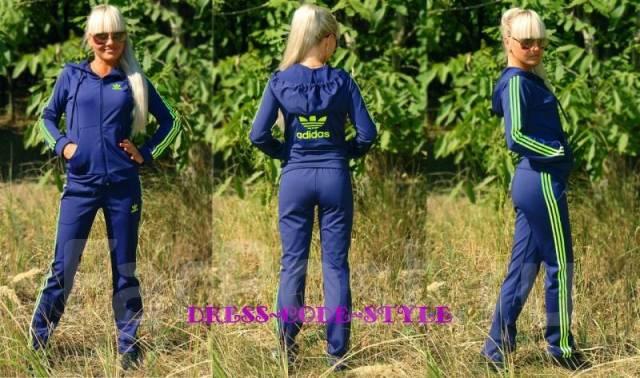Синий спортивный женский костюм адидас доставка