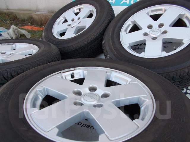 1103. Комплект колёс 255/70/18 лето Bridgestone на литье Jeep!. 7.5x18 5x127.00 ET44