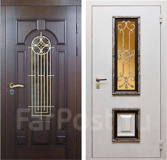 входные двери с ковкой и стеклом цени
