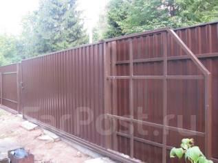 Установка и изготовление откатных ворот (консольные, подвесные)