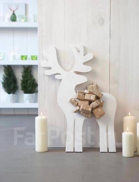 Новогодние олени из картона своими руками
