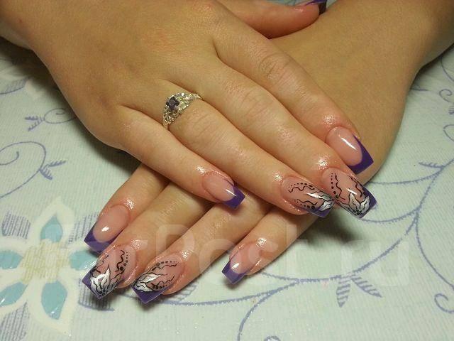 Красивый дизайн наращивание ногтей