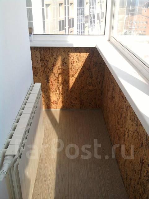 Пробковое покрытие на балконе.